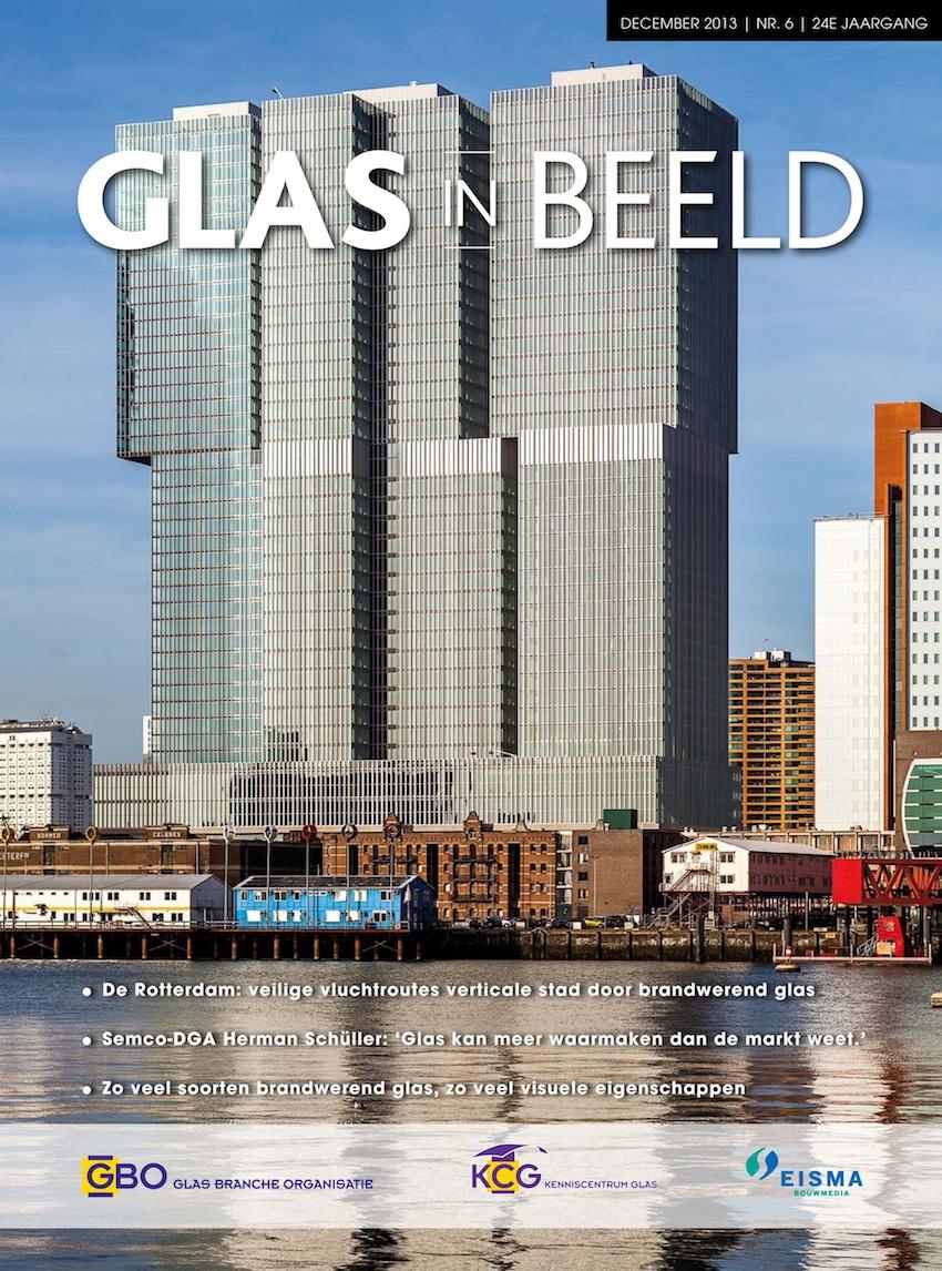 Cover van tijdschrift Glas in  beeld december 2013