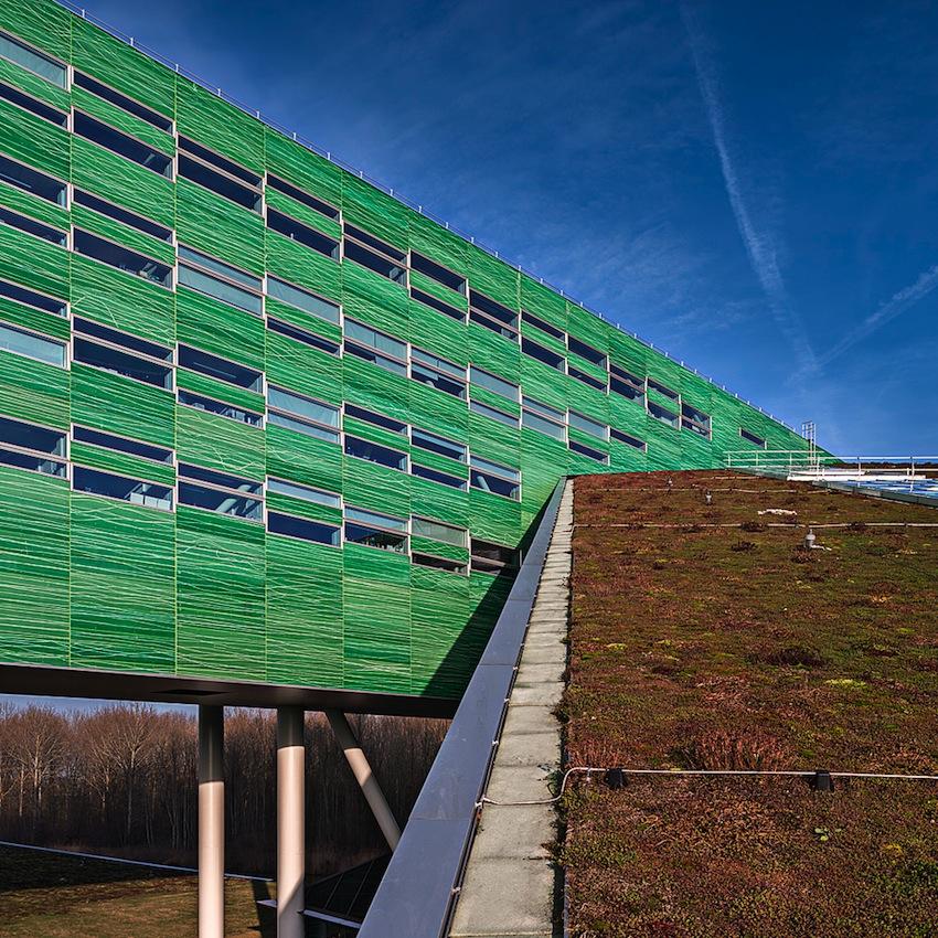 Groene Hagedis - Rijksuniversiteit Groningen. Architectuurfotografie: DAPh/Jacomien Boonstra