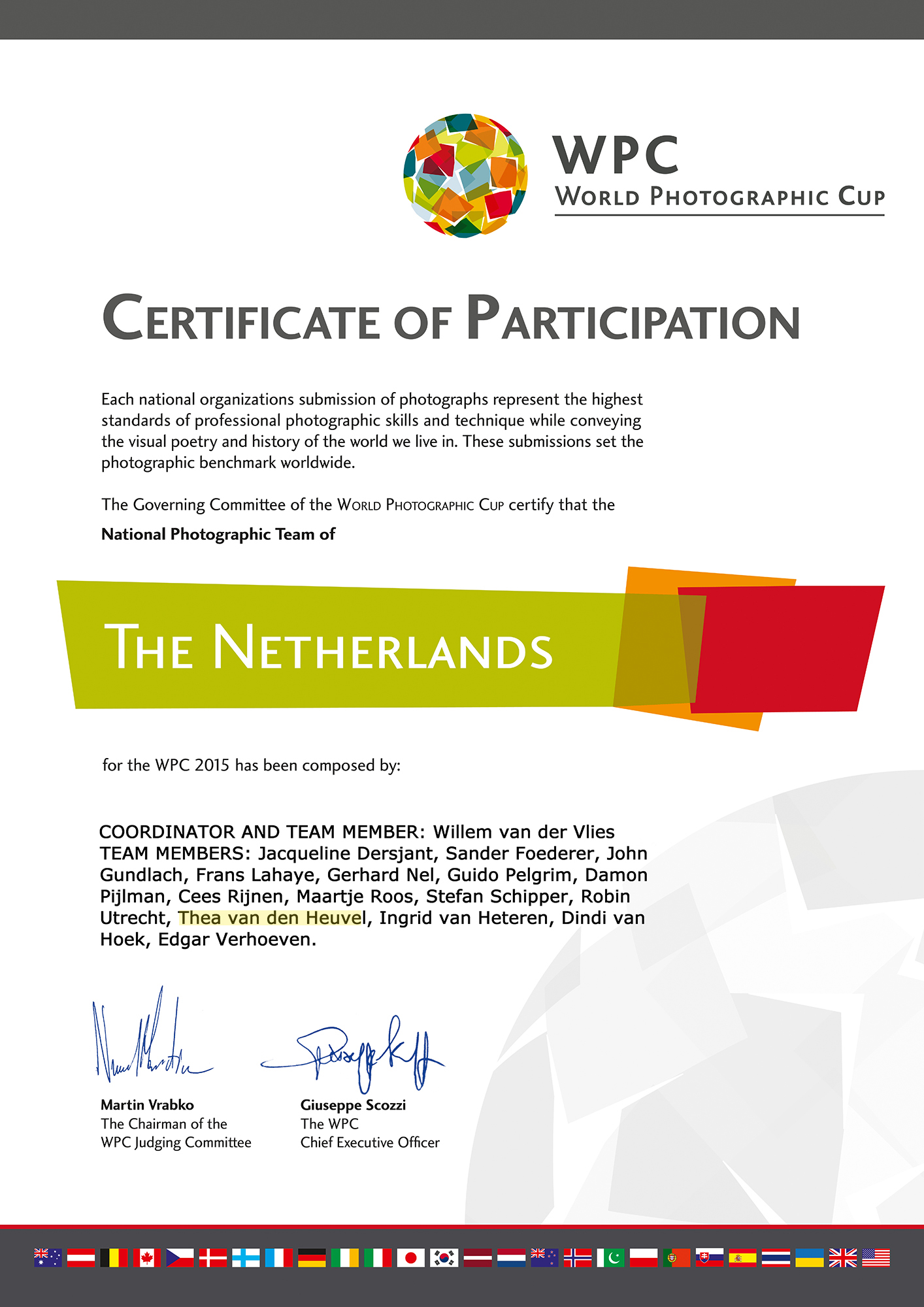 World Photographic Cup 2015